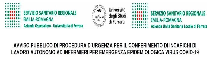 Avviso pubblico di procedura d'urgenza per l'emergenza epidemiologica causata dal Covid-19