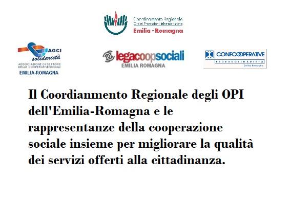 Le sinergie tra il Coordinamento Regionale degli OPI dell'E-R e le Cooperative sociali
